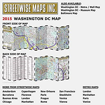 Streetwise Chicago Map.Streetwise Washington Dc Map Laminated City Center Street Map Of
