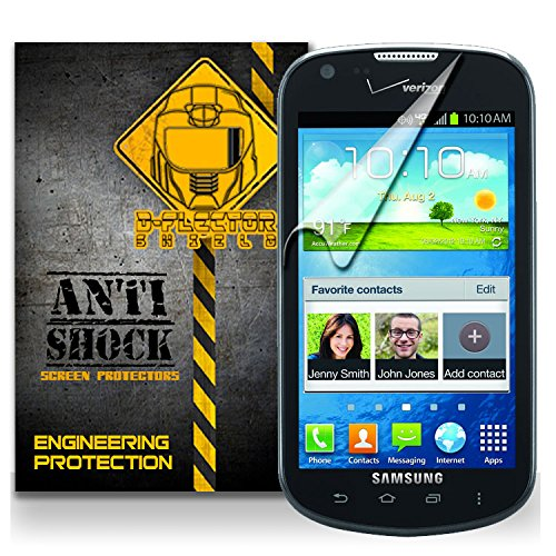 D-Flectorshield Samsung Galaxy Stellar / Legend Sch-I200 Anti-Shock/Military Grade/ Tpu /Premium Screen Protector / Self Healing / Oleophobic Material / Ez Install / Ultra High Definition / Scratch Proof / Bubble Free Install / Precise Laser Cuts front-56467