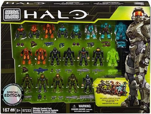 Mega Blok: Halo - Ultimate Combat Pack (20 Figures) (Halo Master Chief Collectors Edition)