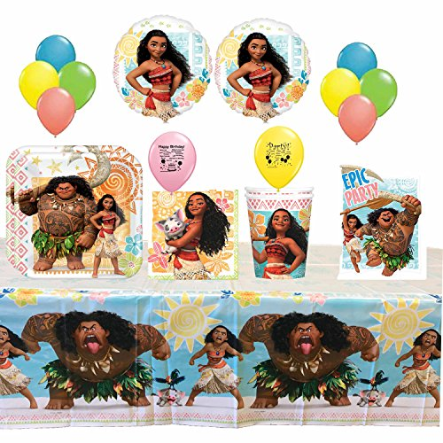 Disney Moana Tableware and Balloons Set