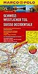 MARCO POLO Karte Schweiz, Westlicher...