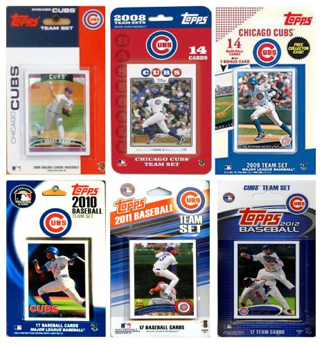 MLB Chicago Cubs 6 Different Licensed Trading Card Team Sets at Amazon.com