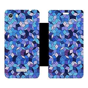 Skintice Designer Flip Cover with hi-res printed Vinyl sticker wrap-around for Micromax Canvas Unite 3 Q372