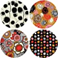 "CoasterStone AS9918 Absorbent Coasters, 4-1/4-Inch, ""Amelia"", Set of 4"
