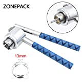 ZONEPACK Perfume Bottle Capping Machine 13mm Stainless Steel Lid Crimper Hand Sealing Machine Manual Gland Pliers Medical Crimper Handle Anti-Skid Perfume Bottle Aluminum Caps (13mm) (Color: Silver and Blue, Tamaño: 13mm)
