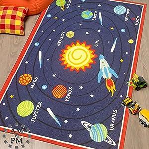 Flair Rugs Matrix Kiddy Planets Rug, Multi, 80 x 120 Cm by Flair Rugs