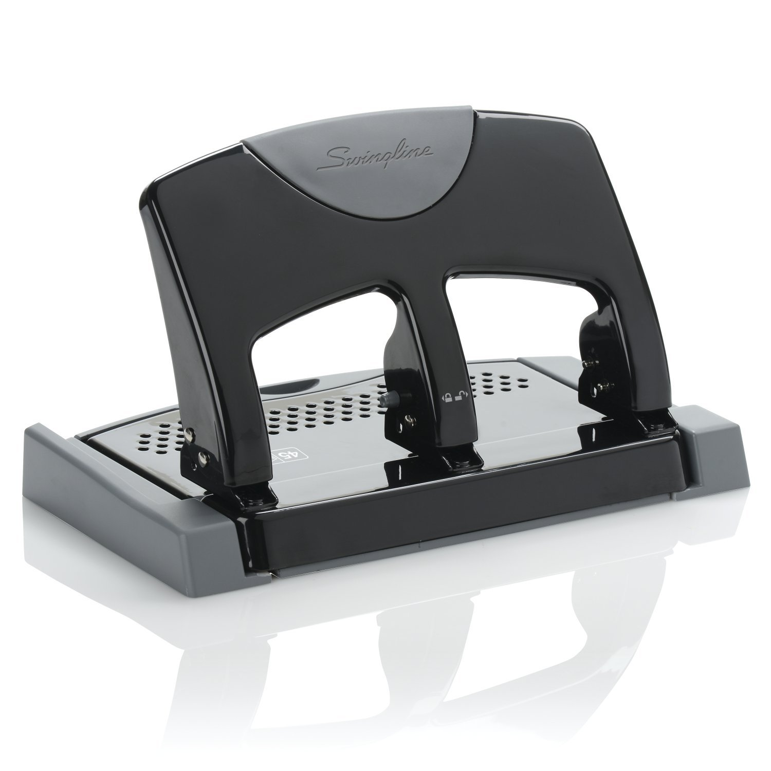 Staples One-Touch 26614 Heavy-Duty 3-Hole Punch 30-Sheet Capacity Black 884279