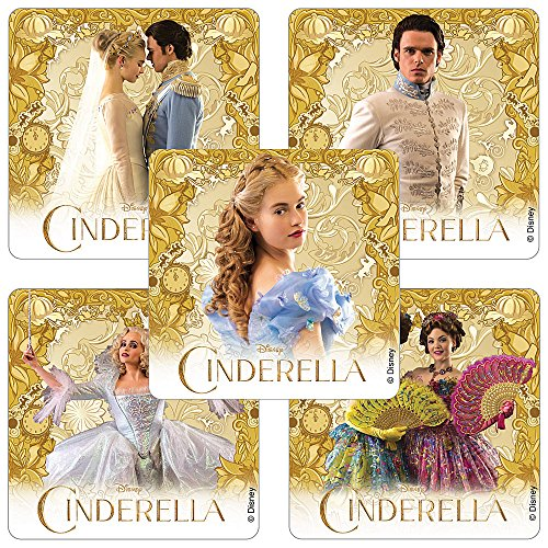 Cinderella Movie Stickers - Birthday Party Favors - 75 per Pack