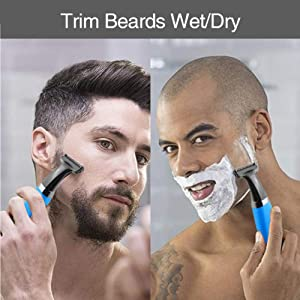 Electric Beard Trimmer for Men Facial Body Razor and Shavers USB Rechargeable Waterproof