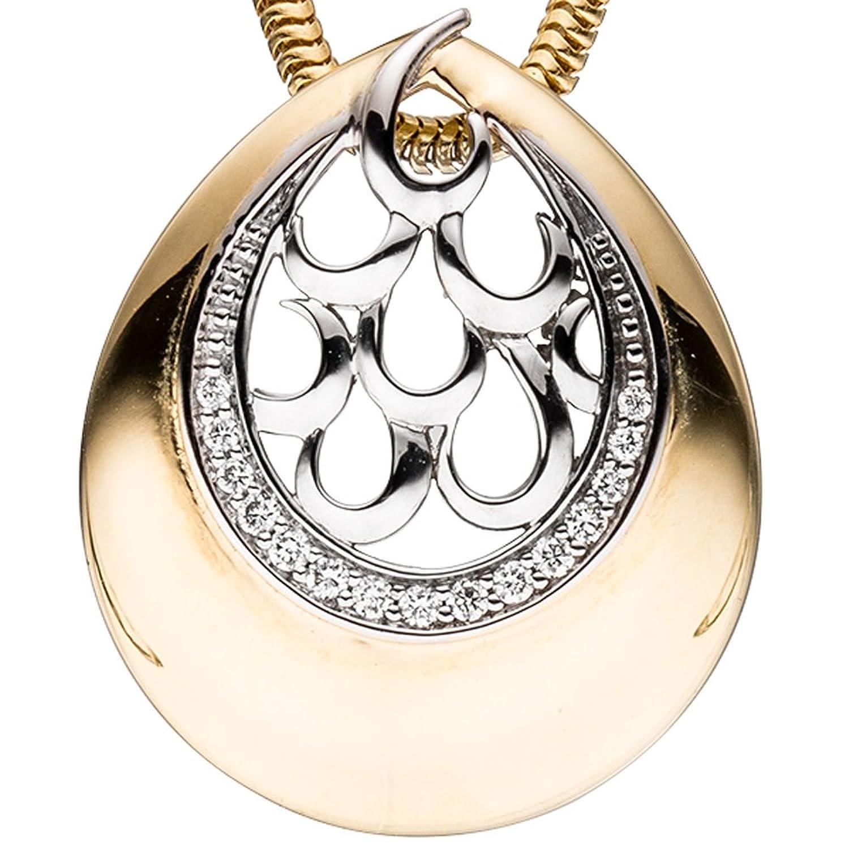 Dreambase Damen-Anhänger 15 Diamant-Brillanten 14 Karat (585) Gelbgold 0.06 ct. jetzt bestellen