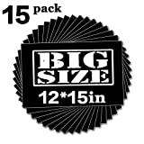 Black Heat Transfer HTV-15 Pack of 12x15 Iron On Vinyl for T-Shirts with Storage Cardboard (Color: 15 pack Black HTV, Tamaño: 12x15 inch)