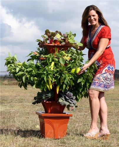 Exaco trading ezgro hydroponic vertical container gardening system white - Hydroponic container gardening ...