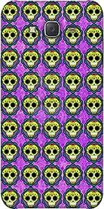Snoogg Skull Purple Pattern Designer Protective Back Case Cover For Samsung J5