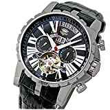 (ジョン・ハリソン) J.HARRISON ビッグテンプ付多機能表示・自動巻&手巻き腕時計JH-033BK 【並行輸入品】