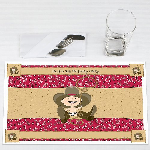 Little Cowboy - Personalized Birthday Party Placemats front-708993