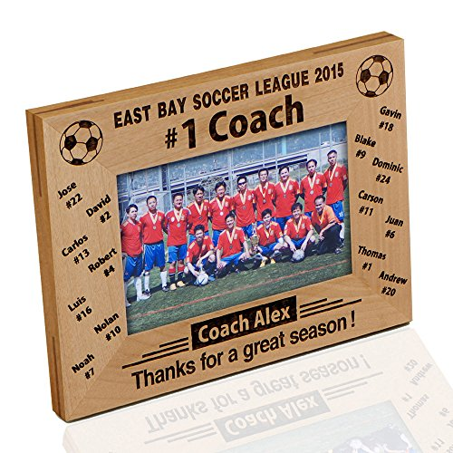 Personalized '#1 Soccer Coach' Photo Frame (Coach Picture Frame compare prices)