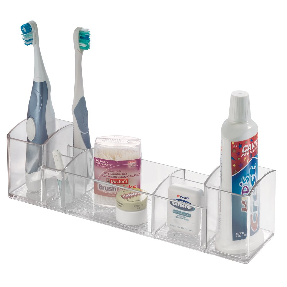 Bathroom tray organizer vanity toothbrush holder toiletry storage