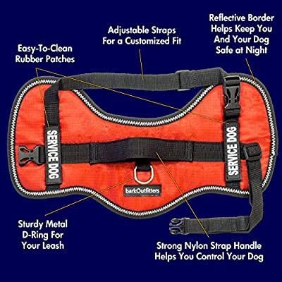 """Service Dog Vest Harness - Light Weight But Durable - Available Sizes 15"""" - 38"""""""