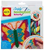 ALEX Toys - Craft, Simply Needlepoint Butterfly Kit, 395BN