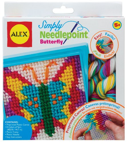 ALEX Toys - Craft, Simply Needlepoint Butterfly Kit - 1