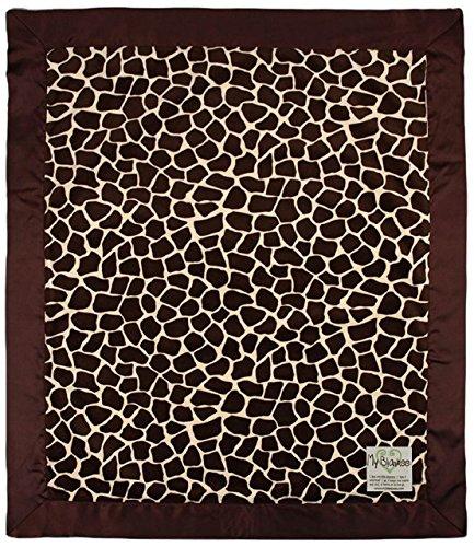 "My Blankee Giraffe Minky Baby Blanket, 30"" X 35"", Butter/Brown"