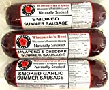 WISCONSINS BEST and WISCONSIN CHEESE COMPANY - Smoked Summer Sausages Wisconsin Cheese SAMPLER Gift Basket - PREMIUM QUALITY - Great Gift