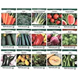 Heirloom Vegetable Garden Seed Collection - Assortment of 15 Non-GMO, Easy Grow, Gardening Seeds: Carrot, Onion, Tomato, Pea, More