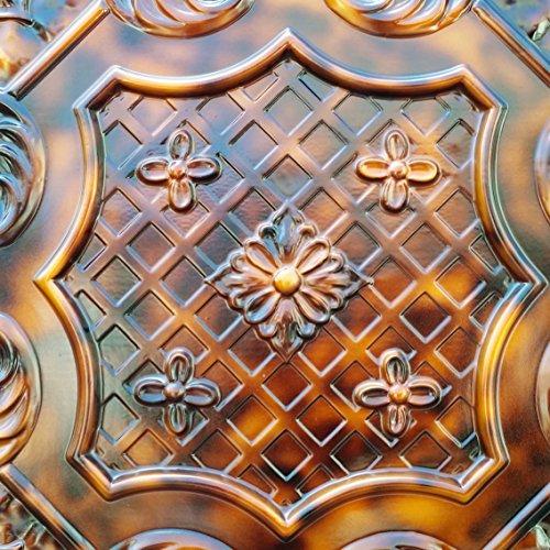 pl04en étain finition 3D Dalles de plafond en relief Cafe Pub Shop Art Décoration murale panneaux 10pieces/Lot