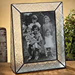 J Devlin Pic 126-57V Stained Glass Picture Frame Clear Vintage Textured Glass 5x7 Vertical Portrait Photo