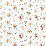 High Quality - Floral Spray - white self-adhesive vinyl - 450mm /m DC