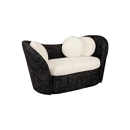 Aubry Gaspard MCA 1270C sofá en jacinto negra