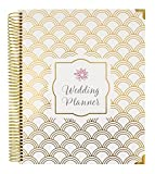 """Specifications and features include: -9"""" x 11"""" hard cover Wedding Planner with gold foil, gold reinforced metal corners, and gold single coil metal binding, allowing your planner to lay flat on your desk. -Three storage pockets provide ample ..."""