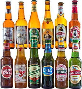 FREE Delivery - 12 Lagers from Around the World Hamper