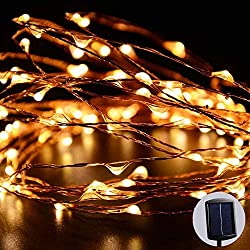 LUCKLED Outdoor Solar Powered String Lights, 120 LED Warm...