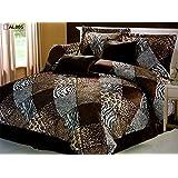 7 Pieces Multi Animal print Comforter set Queen size Bedding Brown, Black, White -Zebra, Leopard, Tiger, Cheetah Etc.