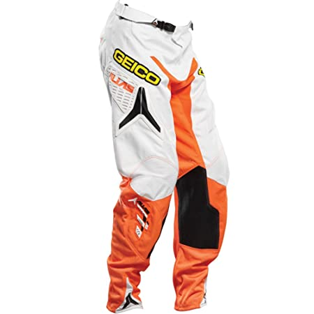 Alias 2014 Motocross Pantalon A1 - Geico Équipe - blanc-néon orange