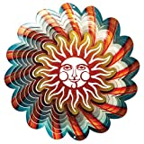 Iron Stop Designer Sun Blue Wind Spinner