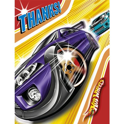 Hot Wheels 'Fast Action' Thank You Notes w/ Envelopes (8ct)