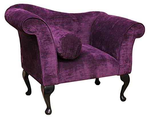 Deisgner Chair in a rich purple Veluto Fabric