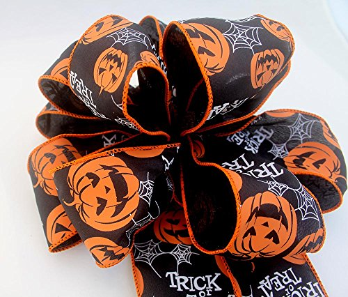 Halloween bow for wreaths, Pumpkin bow, Autumn decor, fall decoration, holiday bows, fall bows,Halloween decoration, wedding bows