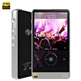 HiBy R6 Pro Hi-Res Audio Player, High Resolution Music Player with aptX/atpX HD/LDAC/Bluetooth/DSD/Tidal/Spotify/Android 8.1/5G WiFi/4.4 Balance Output, HiFi Lossless MP3 Player with Touch Screen (Color: Silver)