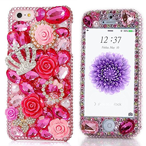 spritechtm-fashion-cellphone-bling-case3d-handmade-front-and-back-crystal-rose-crown-pattern-design-
