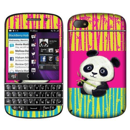 Fincibo (Tm) Blackberry Q10 Accessories Skin Vinyl Decal Sticker - Cute Baby Panda