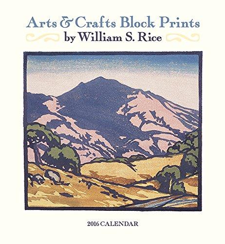 Rice/Arts & Crafts Prints 2016 Calendar (Rice Calendar compare prices)