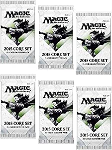 6 (Six) Packs of Magic: the Gathering - MTG: 2015 Core Set / M15 Booster Pack Lot