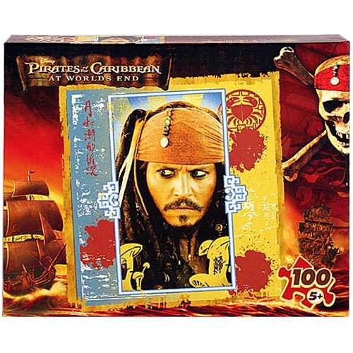 Pirates of the Caribbean at World's End 100-Piece Puzzle - Captain Jack Sparrow