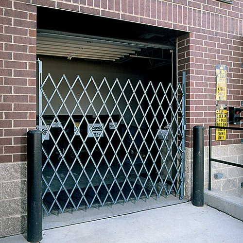 Wireway/Husky Folding Steel Pivoting Single Security Gates For Wide Doorways - Gray front-51969