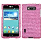 Asmyna LGUS730HPCDMS004NP Luxurious Dazzling Diamante Case for LG Splendor/Venice S730 - 1 Pack - Retail Packaging - Pink