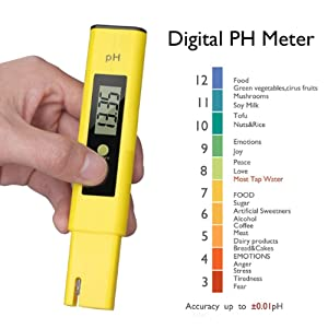Digital PH Meter | PH Tester | High Accuracy 0.01 PH | Mini Water Quality Tester Meter Ideal kit for Aquarium, Swimming Pool, Drinking Water, Indoor/Outdoor Use