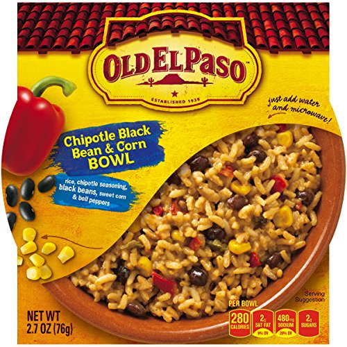 Old El Paso Chipotle Black Bean And Corn Bowl, 2.7 Ounce (Pack Of 12)